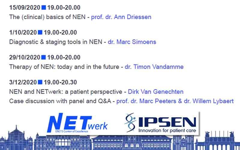 overzicht Webinars NETwerk Antwerpen-Waasland 2020 | vzw NET & MEN Kanker