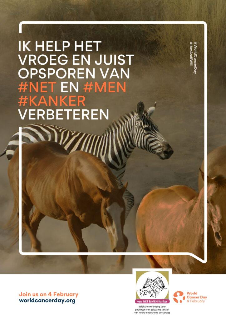 A4-2PRINT Poster NET & MEN Kanker in kader van World Cancer Day 2021