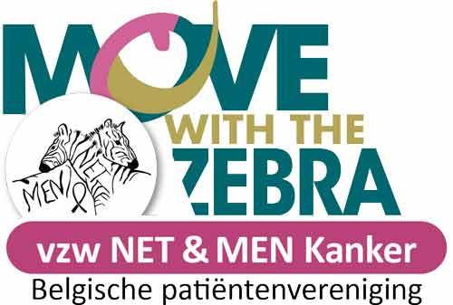 Het logobeeld voor de bewegings activiteit onder lotgenoten en naasten die lid zijn van vzw NET & MEN Kanker