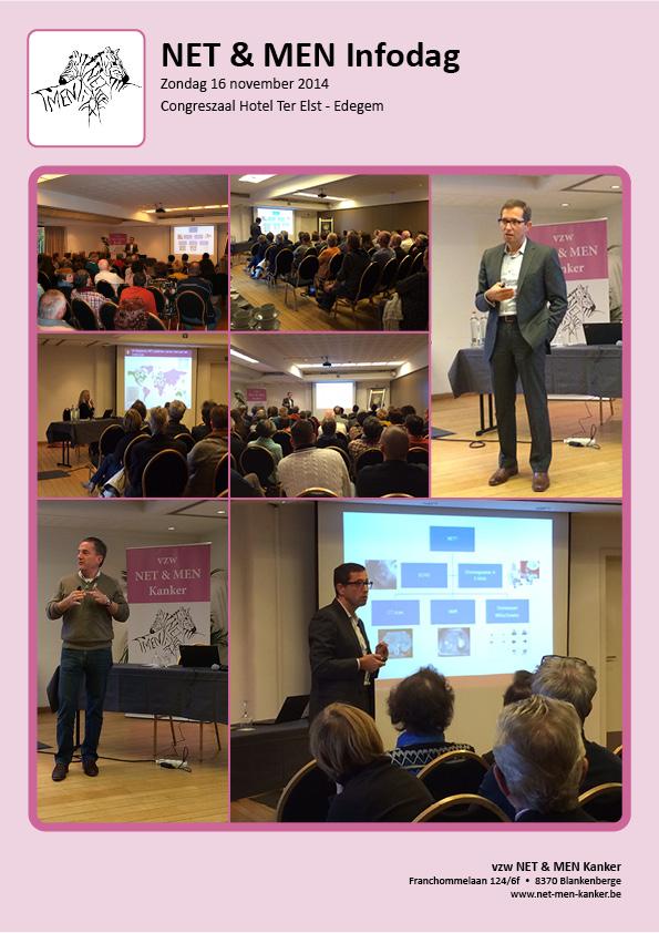 beeldverslag INFOdag NET & MEN Kanker 2014 met Prof. dokter Marc Peeters UZA