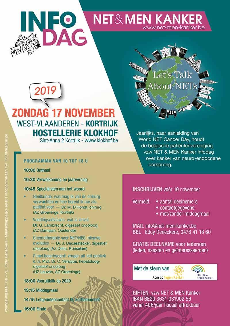 Affiche INFOdag NET & MEN Kanker 2019