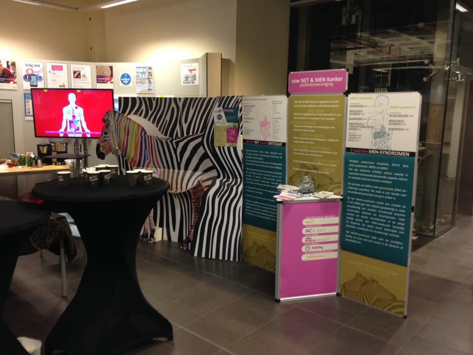 Infostand NET & MEN Kanker patiëntenvereniging - UZA 2018 awareness actie NET Cancer Day