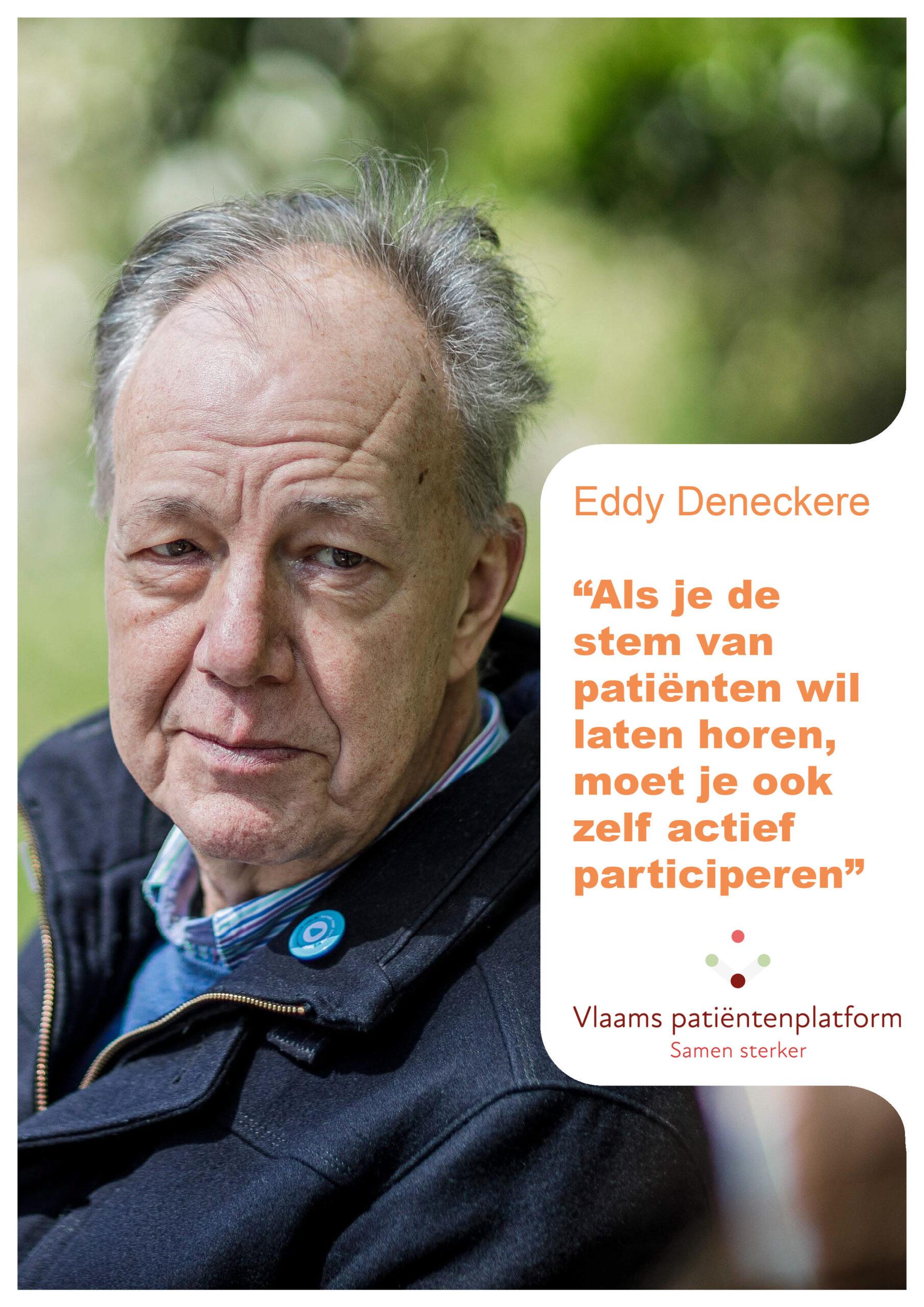 Vlaams Patientenplatform interviewt Eddy Deneckere als gedreven voorzitter van patientenvereniging NET & MEN Kanker - Samenspraak, nieuwsbrief VPP, nummer 108, juni 2021
